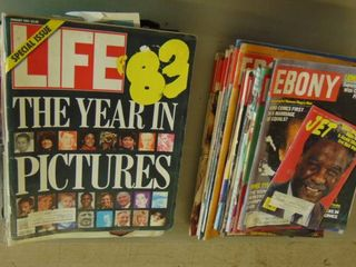 life and Ebony magazines