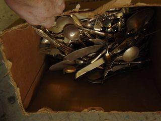 box of flatware
