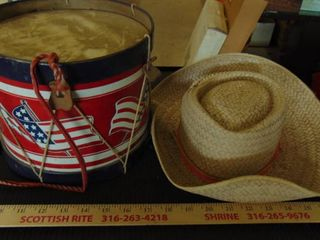 drum and hat