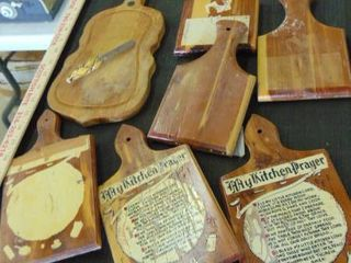 lot of wood cutting boards