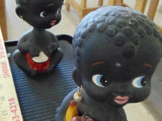 2 baby banks   black hair bed shorts   bobble head   6  tall