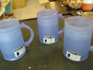 3 freezer frosty mugs