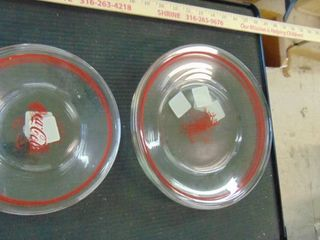 Coca Cola glass plates