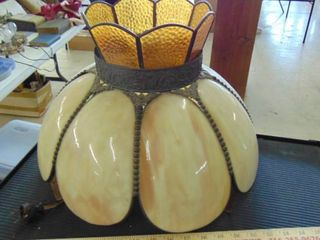 vintage yellow hanging lamp