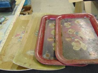 old metal trays