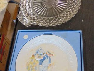 glass serving plate   collector plate