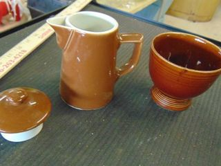 ceramic coffee pot and bowl