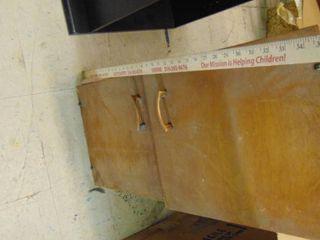 2 door wooden cabinet