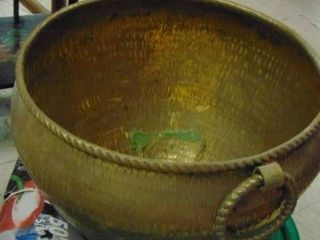 Big brass pot