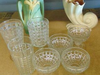glass dessert cups   old vases