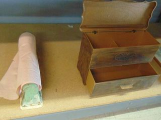 vintage paper towel holder   storage box