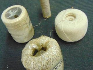 rolls of twine and heavy thread