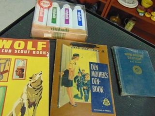 vintage Cub Scout and boy scout books