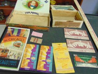 cigar boxes   Broadway and other Arts collectible play bills and more