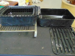 1 2 size roaster pan w lid
