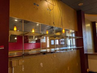 Mirror Panels With Adjustable Shelving  Buyer Responsible For Removal