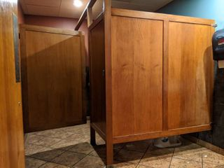 Wooden Bathroom Stall  Buyer Responsible For Removal
