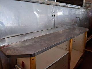 Stainless Steel Counter Top With Ticket Holder  Buyer Responsible For Removal