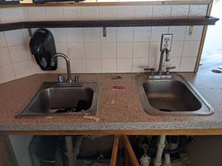 2  Hand Sinks With Soap Dispenser  Buyer Responsible For Removal