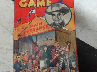 Tom Mix Circus Game Board  Just the Board