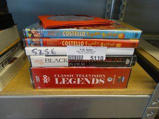 Classic television legends 25 disc set 300 episodes   4 various DVDs
