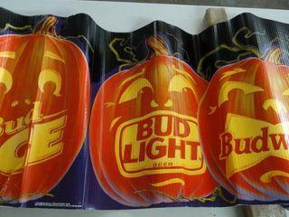Corrugated Budweiser Halloween Wrap