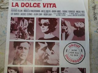 la Dolce Vita movie promotional info