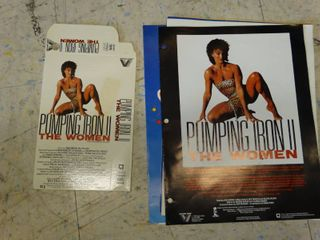 Pumping Iron II The Women  VHS box   poster  misc