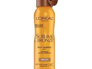 L'Oreal Paris Sublime Bronze Self Tanning Mist, Medium, 4.6 oz.