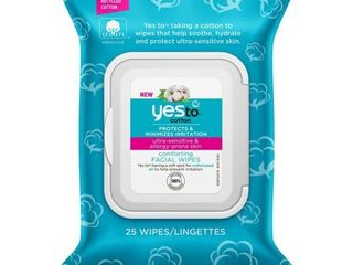 Yes to 100% Cotton Facial Wipes - 25ct, Women's