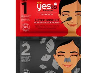 Lot of (5)Yes To Tomatoes 2-Step Single Use Nose Kit Buh-Bye Blackheads!