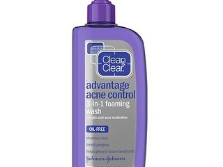 Clean & Clear Advantage Acne Control 3 in 1 Foaming Face Wash - 8floz