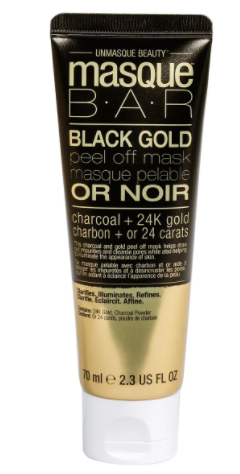 Masque Bar Black Gold Peel Off Mask Charcoal + 24k Gold 2.3 Fl. Oz Ea. (3pack)