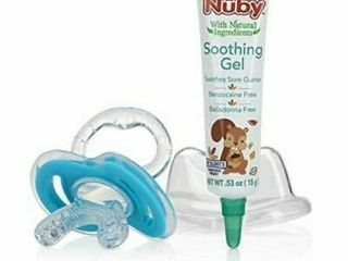 Nuby Soothing Teethers Gum-eez 4 M + Soft Silicone Teether And Teething Gel 15g