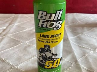 BullFrog Land Sport with Breathable Sweat TECH Sport-Dri Spray, SPF 50, 6 Fl Oz