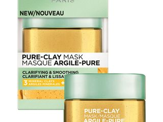 L'Oreal Paris Pure-Clay Mask Clarify & Smooth - 1.7oz, Purify & Mattify