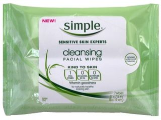 Simple Sensitive Skin Experts Cleansing Facial Wipes,7wipes