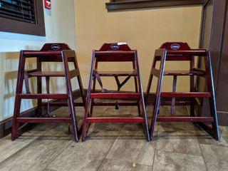 (3) Winco High Chairs