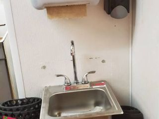 Hand Sink, Paper Towel Dispenser, Soap Dispenser