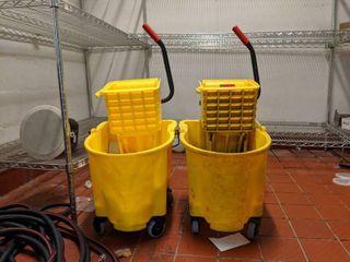 (2) Rubbermaid Mop Buckets