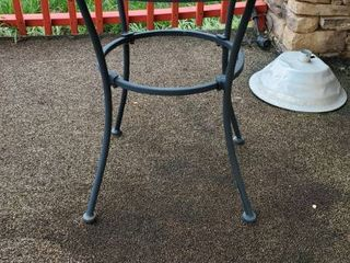 28in Metal Patio Table