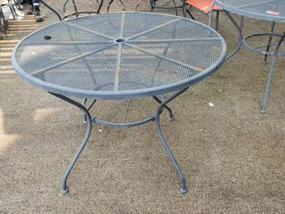 40in Metal Patio Table