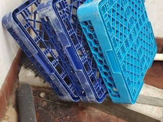 (3) Dish Crates