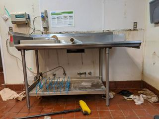 Shelving  Part Of Dishwashing Unit  Unit Not Included  Buyer Responsible For Removal