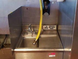 Stainless Hand Sink, Paper Towel Dispenser, Soap Dispenser