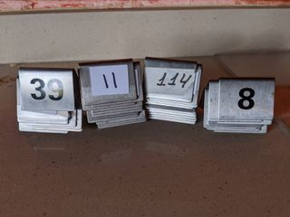 Assorted Table Numbers