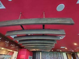 Overhead Wood Beam Light Unit