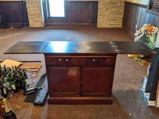 Wooden Bar, Drawer Damaged