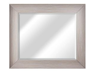 American Art Decor leighton Rectangular Framed Wall Vanity Mirror   Brown   A N