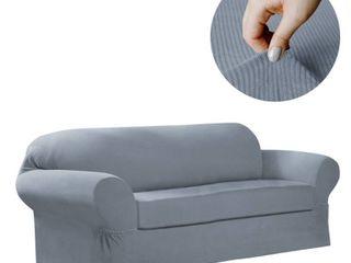 Maytex Collin 2 Piece Sofa Slipcover   74 96  wide 34  high 38  deep
